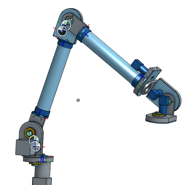 The full arm assembly in Onshape